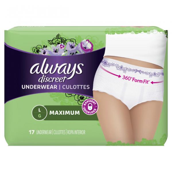 3700088736 Always Discreet pullup underwear max